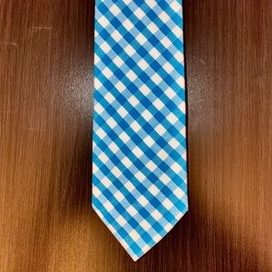 J. Crew The Cotton Tie - Like new, Teal & White